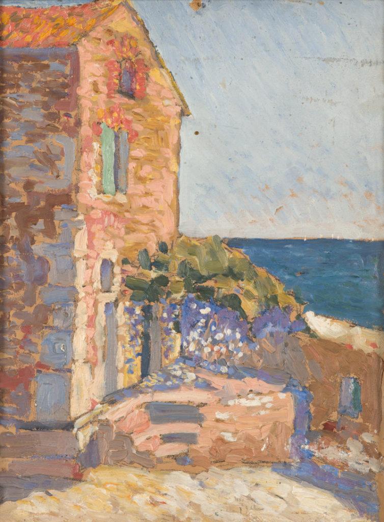 Collioure ; façade ; atelier ; mer ; Méditerranée ; Martin